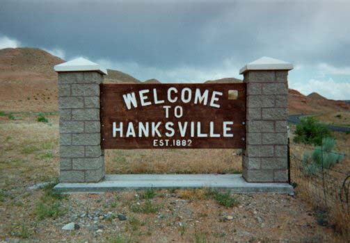 Hanksville Welcome Sign